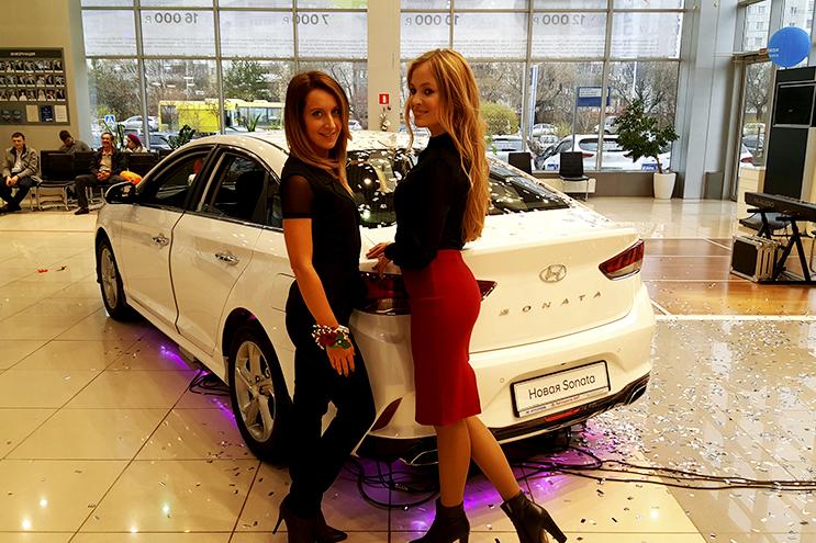 Hyundai Sonata: Барнаульский пивоваренный завод принял участие в презентации новой модели автомобиля